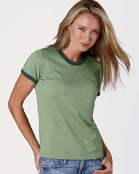 Women's Heather Jersey Ringer T Shirt