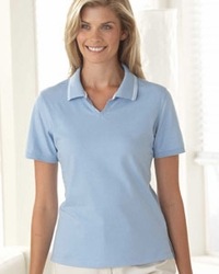 Women's Jersey Polo Shirt with Tipping