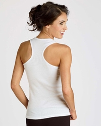Women's 2x1 Rib Racerback Longer Length Tank (Item B4070-SA)