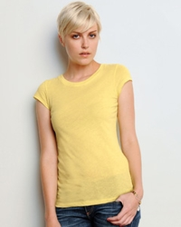 Women's Sheer Jersey Longer-Length T-Shirt