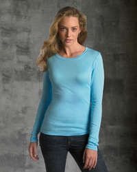 Women's Sheer Rib Long-Sleeve T-Shirt