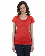Alternative Women's Slim Fit Burnout Crew Tee