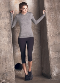 Womens Triblend Long-Sleeve Hooded Pullover