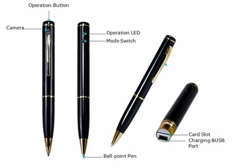 720P HD Spy Pen Camera Recorder