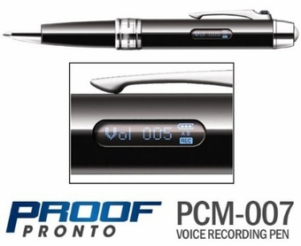 576-Hour Pen Voice Recorder 4GB