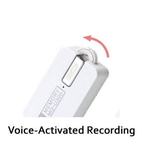 144-Hour Voice-Activated USB Audio Recorder 4GB