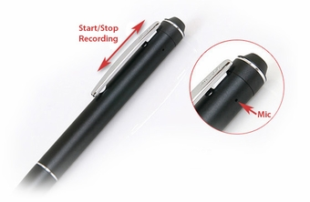 140-Hour Voice-Activated Pen Recorder