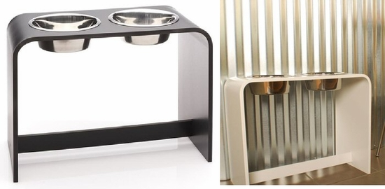 14 inch Elevated Dog Feeder  with two 2 Quart Bowls