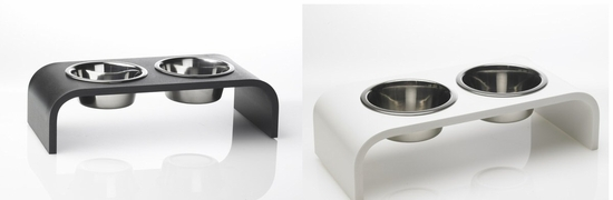 4 inch Elevated Pet Feeder with two 1 Pint Bowls
