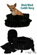 Pet Flys Black/Black Wavy Reversible Snugglebug