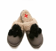 Small Black Poodle Slippers