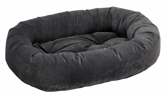 Bowsers Donut Bed - Charcoal Microvelvet