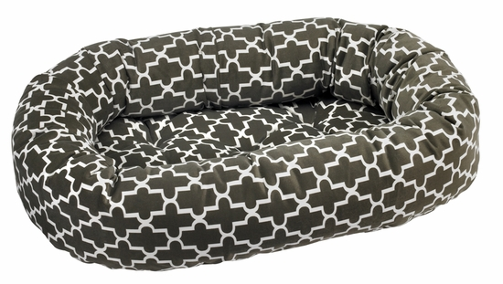 Bowsers Donut Bed - Graphite Lattice Microvelvet