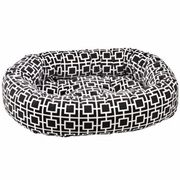 Bowsers Donut Bed - Courtyard Gray Microvelvet