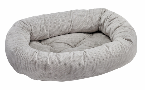 Bowsers Donut Bed - Silver Treats Microvelvet