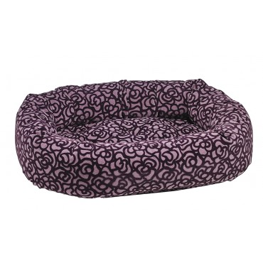 Bowsers Mulberry Microvelvet Donut Bed