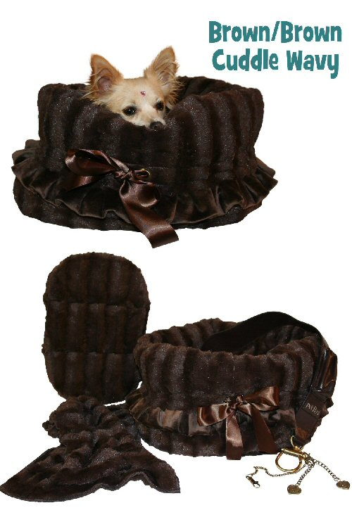 Pet Flys Brown/Brown Wavy Reverisible Snuggle Bug