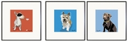 Bull Terrier, Cairn Terrier, Chocolate Lab Print