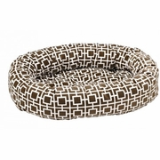 Bowsers Courtyard Taupe Microvelvet Donut Bed