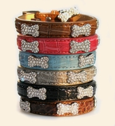 Discontinued Faux Leather Collars - Various Sizes & Colors