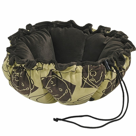 Bowsers Dog Days Microvelvet with Espresso Lining and Pipping Buttercup Bed