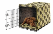 Dog Days/Green Apple Bones Luxury Crate Mat & Crate Cover