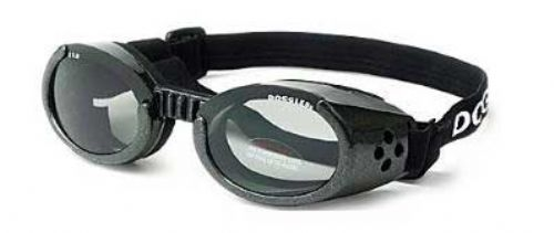 Doggles ILS Metallic Black with Smoke Lens