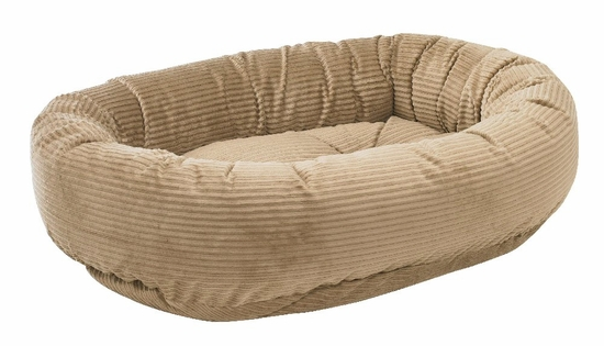 Bowsers Donut Bed - Praline Microcord