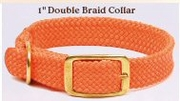 Double Braid Collars Brass Hardware