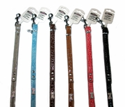 Faux Leather Crystal Bone Leash - limited colors