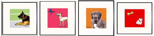 German Shepherd Dog, Chihuahua, Mastiff, Westie Prints