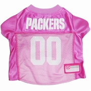 Green Bay Packers Pink Jersey