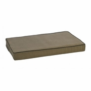 Houndstooth Isotonic Memory Foam bed with Walnut Piping