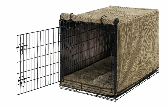 Houndstooth/Espresso Luxury Crate Mat & Cover
