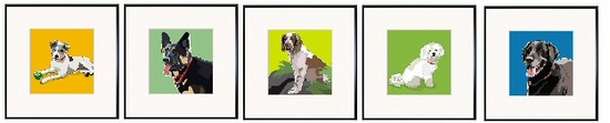 Jack Russell, German Shepherd Dog, Welsh Springer Spaniel, Bichon, Black Lab Print