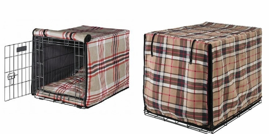 Plaid Luxury Crate Mat & Crate Cover