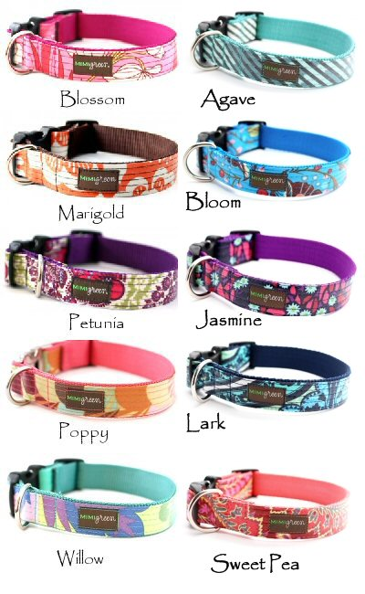 Laminated Cotton Dog Collar and Leash