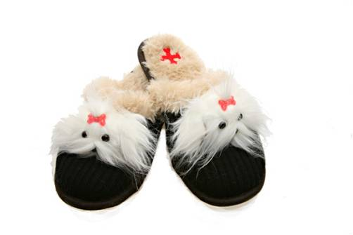 Small Maltese Slippers