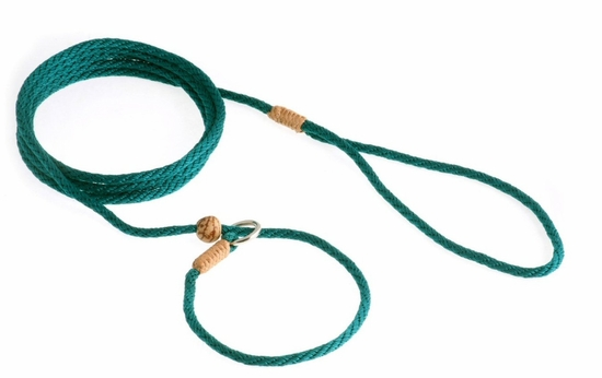 Pine Green Slip Lead with Stop