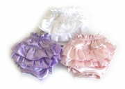 Pink or Lavender Satin Ruffle Panties - limited sizes
