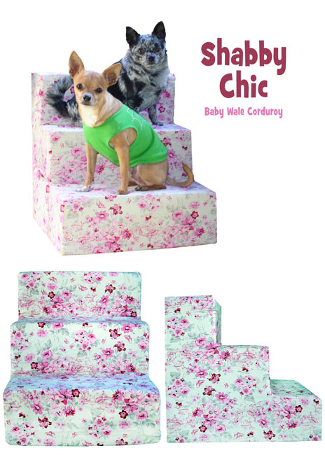 Pink Shabby Chic Pet Steps