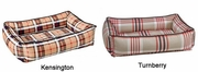Bowsers Kensington Plaid Microvelvet with Ebony Piping or Turnberry Plaid