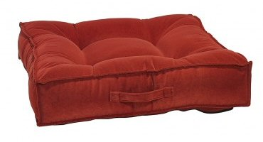 Pomegranate Microvelvet Piazza Bed