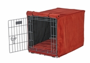 Pomegranate Microvelvet Crate Mat & Crate Cover