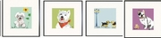 Poodle Pup, Westie, Two Yorkies, French Bulldog Print