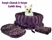 Pet Flys Purple Leopard Reversible Snuggle Bug