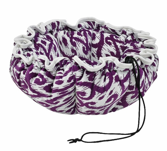 Bowsers Purple Rain Microvelvet with White Piping Buttercup Bed