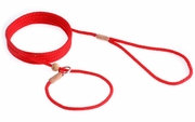 Red Nylon Slip Lead with Stop