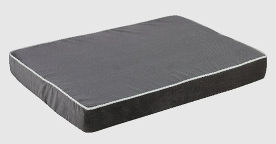 River Rock/White Isotonic Memory Foam Mattress Dog Bed