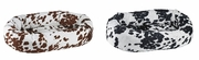 Bowsers Cow Print  Microvelvet Donut Bed